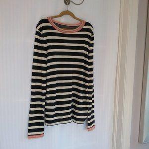 Tops - Nautical Breton Striped Shirt Cashmere, Silk. Med